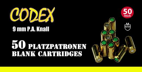 CODEX 9mm PAK Blank Cartridges
